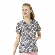Bluza Medicala Imprimata Verity - V-Neck Top